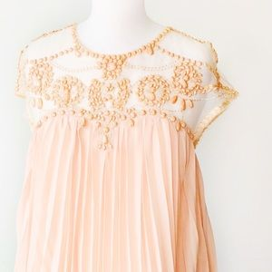 Chicwish Embellished Pleated Dolly Dress